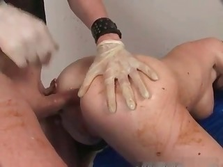 Scat enema and nasty shit sex