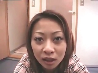 Asian whore shits on camera
