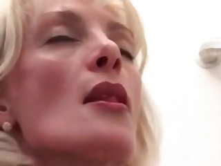 Blonde licks and tastes her shit