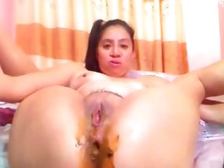 Japanese fucks her shitty ass