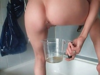 Sweetest liquid shit by a brunette