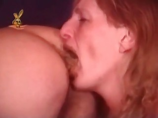 Milf is trying to swallow shit