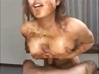 Asian is giving a scat titjob
