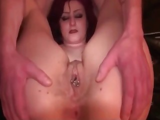 Pierced cunt and juicy scat